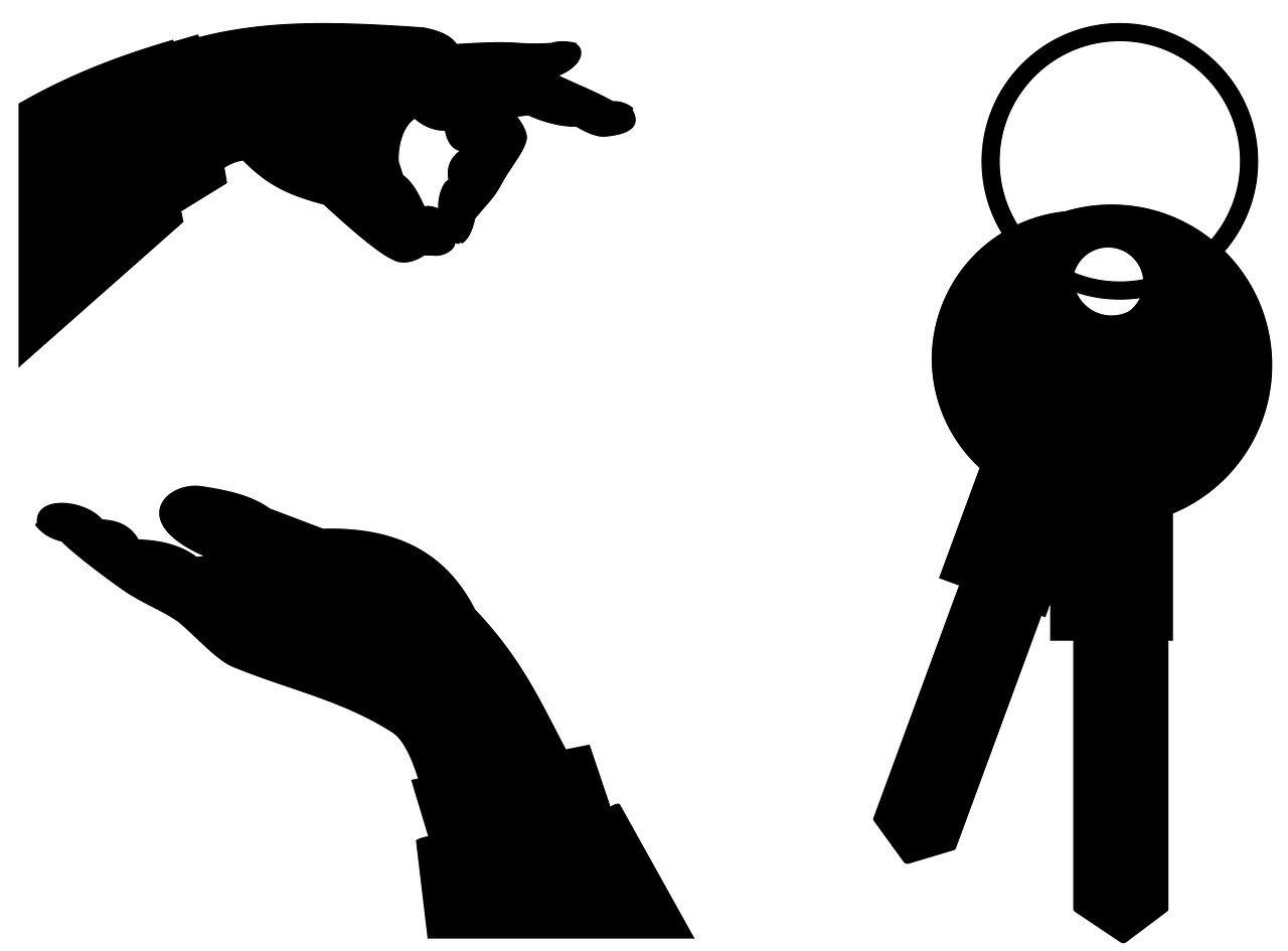 keys, hands, own
